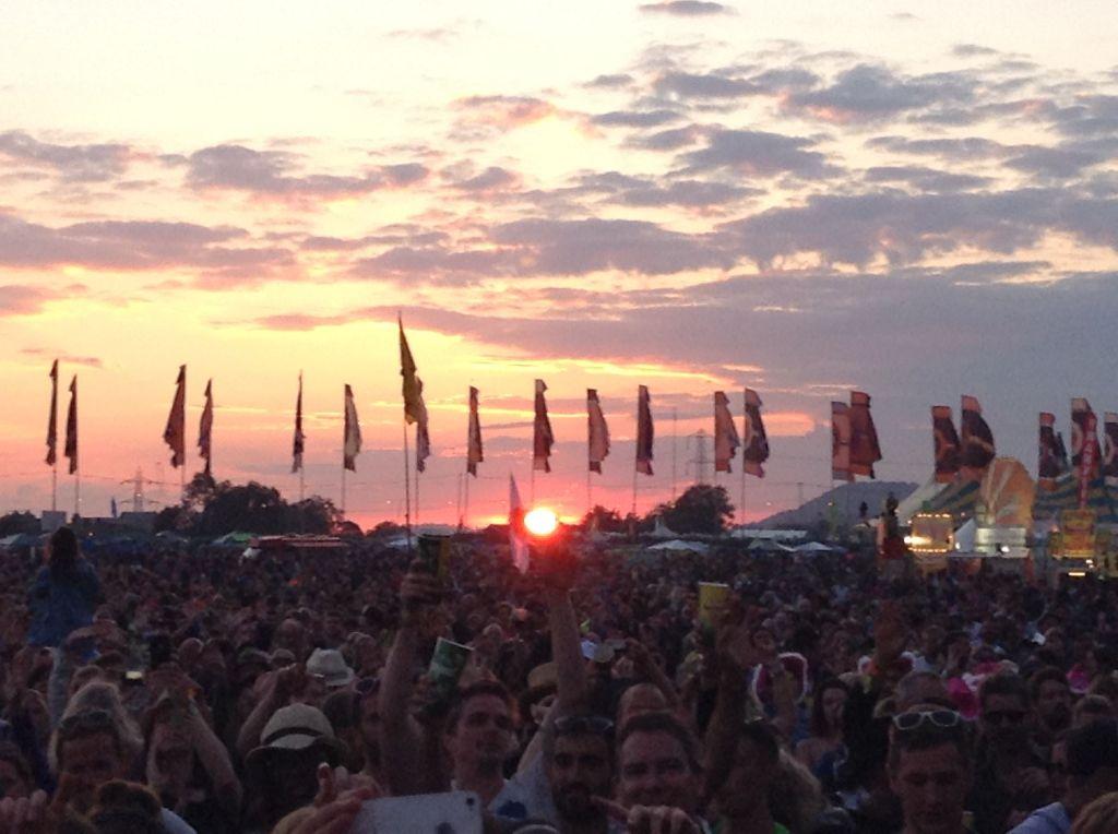 Sundown on Sunday night from Other Stage