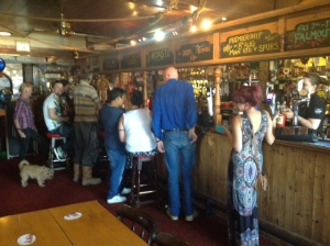 Patrons from all social groups, including those with hidden disabilities, show their support for the bar and its staff.