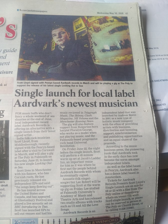 Press for Live Gig in Falmouth